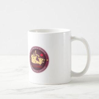 人権の擁護者リーグクラシックで白いマグ コーヒーマグカップ