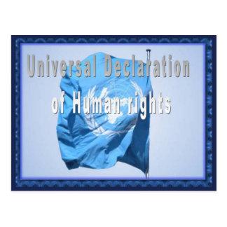 人権の普遍的な宣言 ポストカード