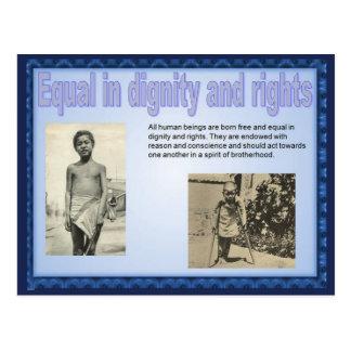人権、社会科、平等 ポストカード