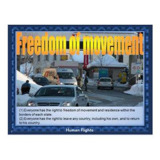 人権-行動の自由 ポストカード