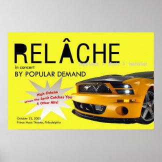 人気があるな要求コンサートポスターによるRelache ポスター