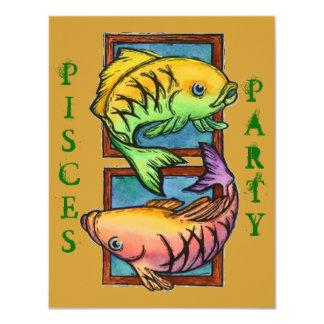 人気があるな魚類のパーティーのパーティーの誕生日の招待状 カード