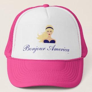 人気があるなBonjourアメリカの女の子のピンクのトラック運転手の帽子 キャップ
