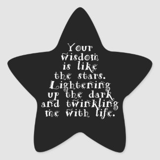 人生のカスタムな星のステッカーとの知恵のきらめき 星シール