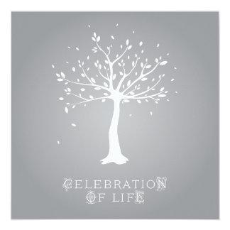 人生のカスタム-エレガントな木のモチーフのお祝い カード