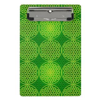 人生のスタンプパターン-緑の花 ミニクリップボード