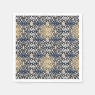 人生のスタンプパターン-青い砂の花 スタンダードカクテルナプキン