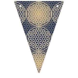 人生のスタンプパターン-青い砂の花 バンティングフラッグ