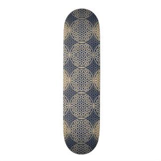 人生のスタンプパターン-青い砂の花 20.6CM スケートボードデッキ