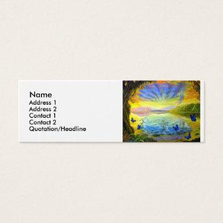 人生のプロフィールカードの川 スキニー名刺