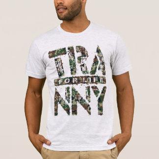 人生の信頼できる車伝達のためのTRANNY、迷彩柄 Tシャツ