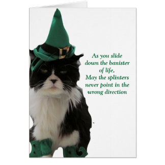 人生の幸せなセントパトリックの日の手すり! グリーティングカード