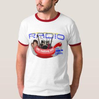 人種や文化などのるつぼのロゴの信号器のワイシャツ Tシャツ