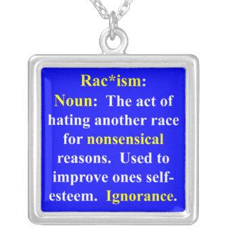 。人種的優越感の定義 シルバープレートネックレス