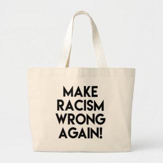 人種的優越感の悪事を再度作って下さい! 反切札の抗議 ラージトートバッグ