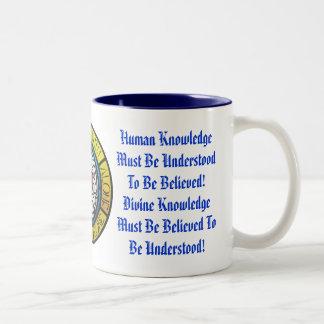 人間および神知識 ツートーンマグカップ