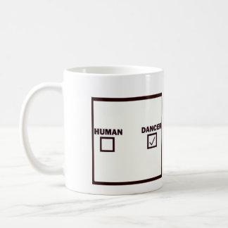 人間かダンサー コーヒーマグカップ