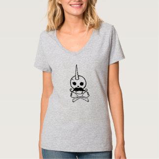 人間かユニコーンのスカル Tシャツ