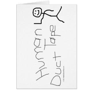 人間のガムテープ グリーティングカード
