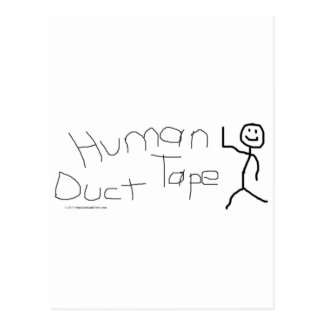 人間のガムテープ ポストカード
