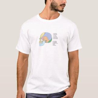 人間のスカルの骨の名前の図表 Tシャツ