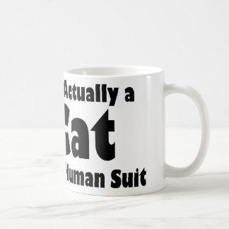 人間のスーツのマグの猫 コーヒーマグカップ