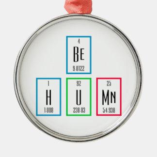 人間の周期表科学のデザインがあって下さい メタルオーナメント