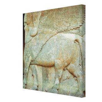 人間の形をした雄牛の浅浮き彫り キャンバスプリント