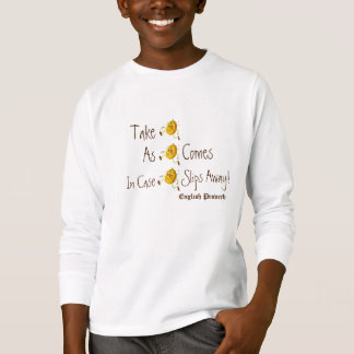 人間の形をしたLifesのレッスンワイシャツの生きている諺 Tシャツ