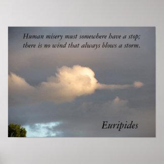 人間の悲惨さに端エウリピデスがなければなりません ポスター