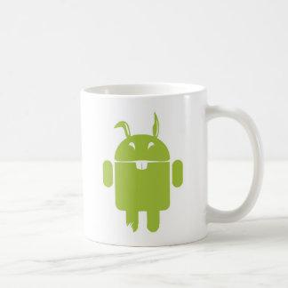 人間の特徴をもつイースターのウサギ コーヒーマグカップ