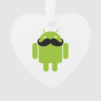 人間の特徴をもつロボットお洒落な髭のスタイル オーナメント