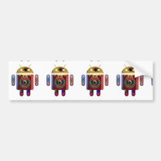 人間の特徴をもつロボット バンパーステッカー