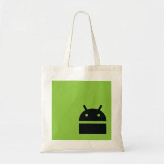 人間の特徴をもつ市場の買い物袋-人間の特徴をもつギークのロゴ トートバッグ