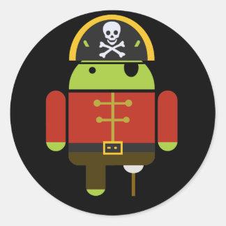 人間の特徴をもつ海賊ステッカー ラウンドシール
