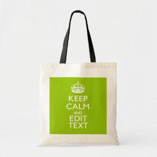 人間の特徴をもつ緑の装飾は平静およびあなたの文字を保ちます トートバッグ