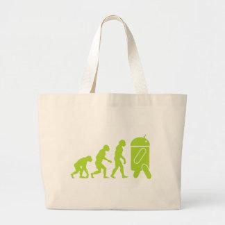 人間の特徴をもつ進化 ラージトートバッグ