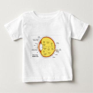 人間の目の球の解剖図表 ベビーTシャツ
