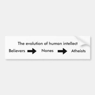 人間の知性の進化 バンパーステッカー