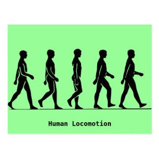 人間の移動 ポストカード