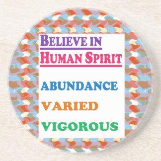人間の精神: 豊富のいろいろで活発な知恵 コースター