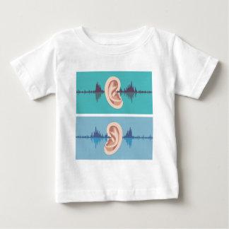 人間の耳を通したSoundwave ベビーTシャツ