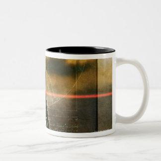 人間の脊柱 ツートーンマグカップ