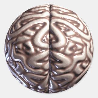 人間の脳のステッカー 丸型シール