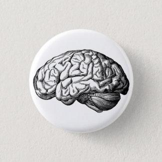 人間の脳気味悪いボタンピン 缶バッジ