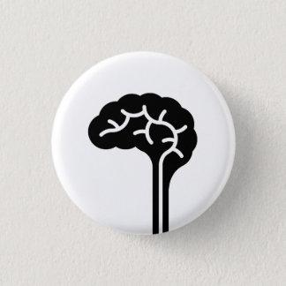 「人間の脳」のピクトグラムボタン 3.2CM 丸型バッジ