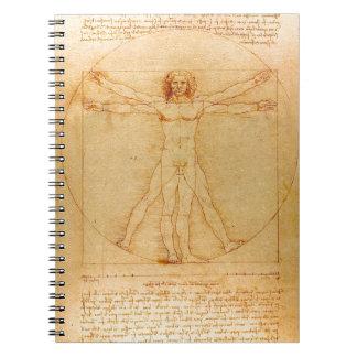 人間の解剖学、レオナルド・ダ・ヴィンチ著Vitruvianの人 ノートブック