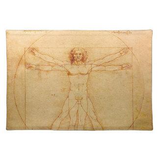 人間の解剖学、レオナルド・ダ・ヴィンチ著Vitruvianの人 ランチョンマット