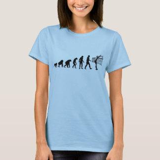 人間の進化: バレーボール選手 Tシャツ