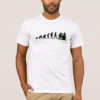 人間の進化: ピアニスト Tシャツ